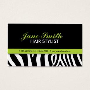 Zebra print business cards templates zazzle zebra print modern elegant green stylish business card colourmoves