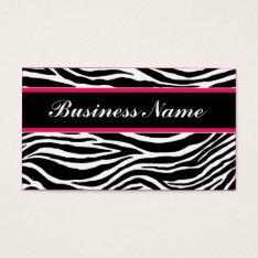 Zebra Print Modern Elegant Stylish Classy Business Card at Zazzle