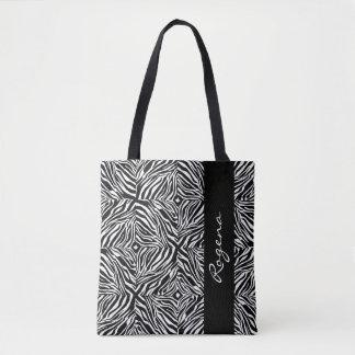 ZEBRA Print-NAME-Sophisticated-Handbag-Tote Tote Bag