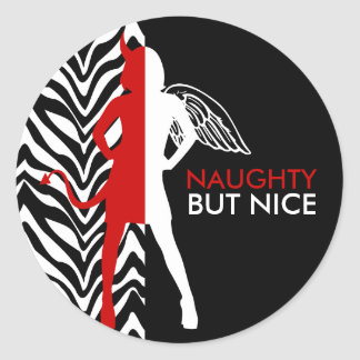 Zebra Print Naughty But Nice Stickers