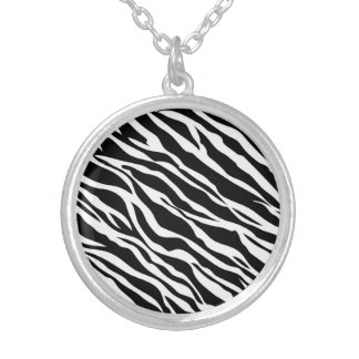 Zebra Print Necklace