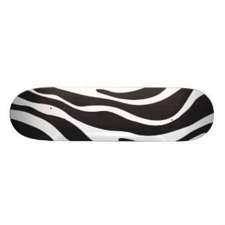 Zebra Print New Cool Black & White Animal Print Skateboard