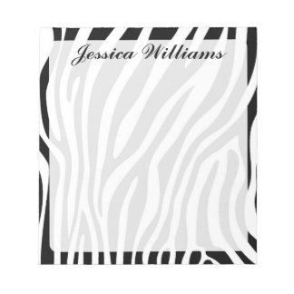 Zebra Print Note Pad