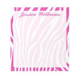 Zebra Print Notepad