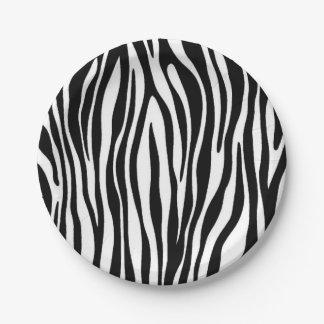 Zebra Print Paper Plate