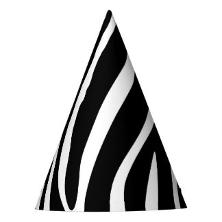 Zebra Print Party Hat