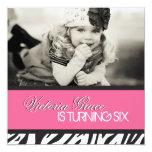 """Zebra Print Party Invitation 5.25"""" Square Invitation Card"""