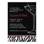 "Zebra Print Party Invitations 5"" X 7"" Invitation Card"