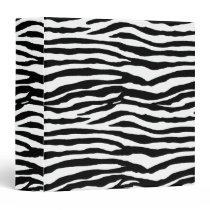 Zebra Print Pattern 3 Ring Binder