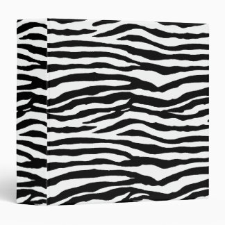 Zebra Print Pattern 3 Ring Binder