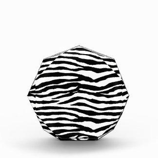 Zebra Print Pattern Acrylic Award