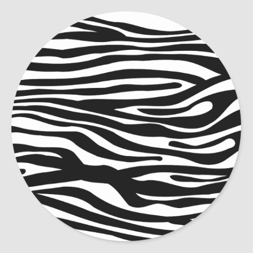 Zebra Print Pattern - Black and White Sticker