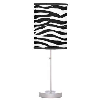 Zebra Print Pattern Table Lamps