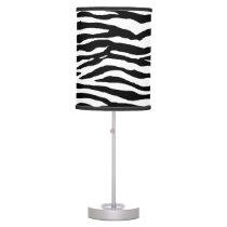 Zebra Print Pattern Table Lamp