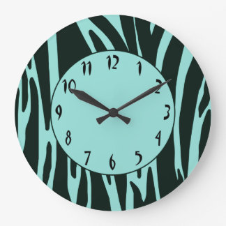 Zebra Print Pattern Wall Clock