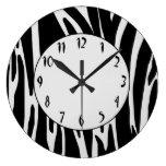 Zebra Print Pattern Wall Clock
