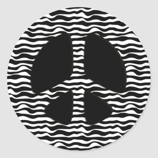 Zebra Peace Sign Coloring Pages ZEBRA PRINT PEA...