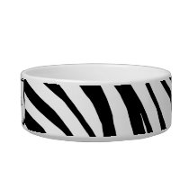 Zebra Print Personalized Cat Bowl