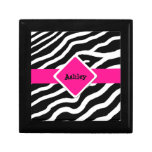 Zebra Print Personalized Jewelry Keepsake Box