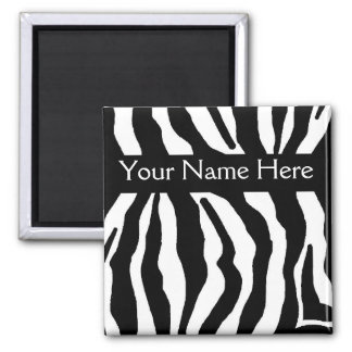 Zebra Print Personalized Name Magnet