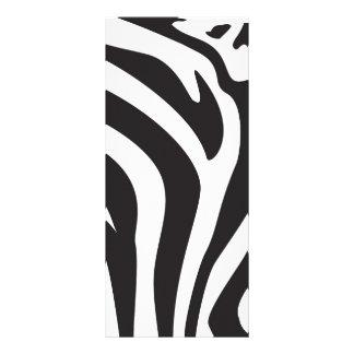 Zebra Print Personalized Rack Card