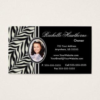 Zebra Print Photo Logo Business Cards ~ Bl