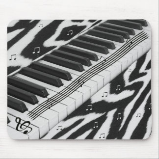 Zebra Print Piano Keyboard Mouse Pad