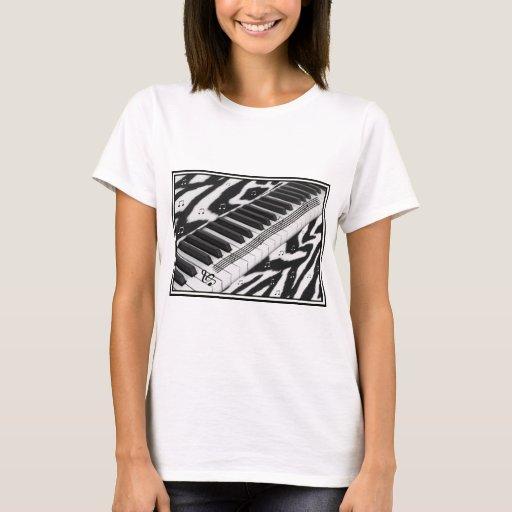 Zebra Print Piano Keyboard T-Shirt