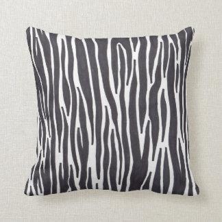Zebra Print Pillow Black & White Stripe