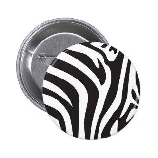 Zebra Print Pinback Button