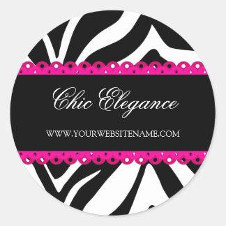 Zebra Print & Pink Lace Stickers