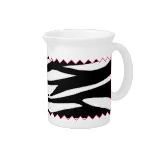 Zebra Print & Pink Zig Zag Pitcher