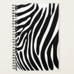 "Zebra Print Planner<br><div class=""desc"">zebra stripes pattern print wild africa girly zoo animal skin black white cartoon safari</div>"