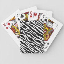 Zebra Print Playing Cards