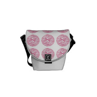 Zebra Print Polka Dots Messenger Bag (Mini)