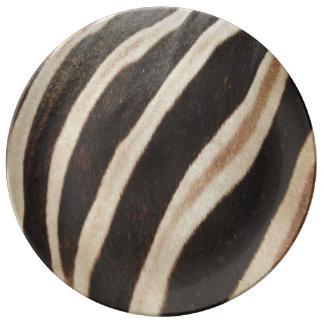Zebra Print Porcelain Plate