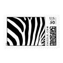 Zebra Print Postage Stamp