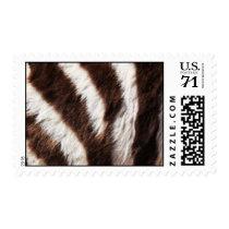 Zebra Print Postage Stamps
