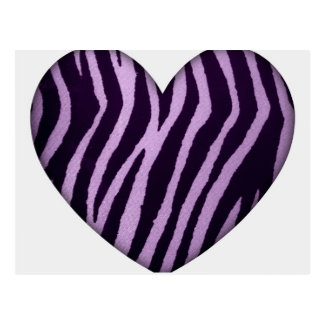 Zebra Print Purple Heart Postcard