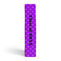 Zebra Print Purple Polka Dot School binder