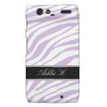 Zebra Print Purple & White Droid RAZR Case