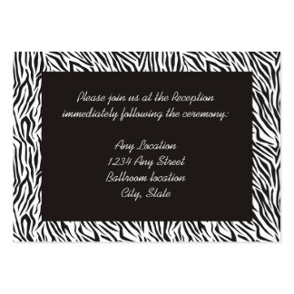 Zebra Print Reception Cards