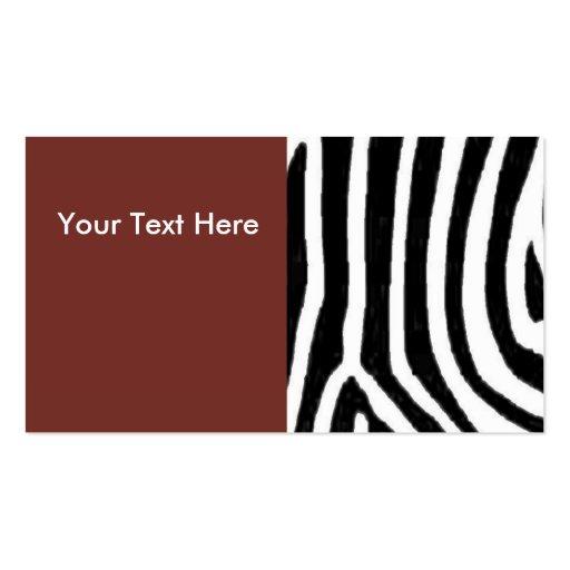 Zebra Print & Red Business Card
