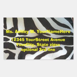 Zebra Print Return Address Rectangular Sticker