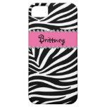 Zebra Print & Rhinestone BLING Case Iphone 5 Case