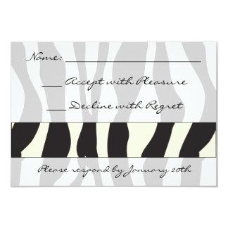 "Zebra Print RSVP 3.5"" X 5"" Invitation Card"