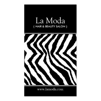 Zebra Print Salon Business Cards