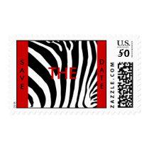 Zebra print save the date postage