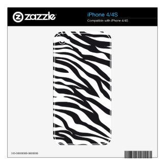 Zebra Print iPhone 4S Skin