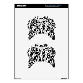 Zebra Print Xbox 360 Controller Skins
